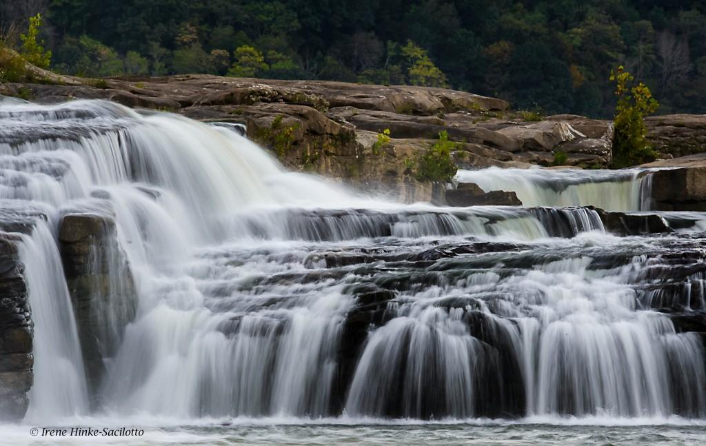 Kanawha Falls south of Glen Ferris adjacent to power plant.