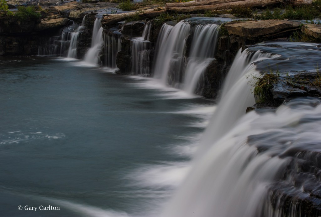 New River photographed at Sandstone Falls. Shot with slow shutter speed.