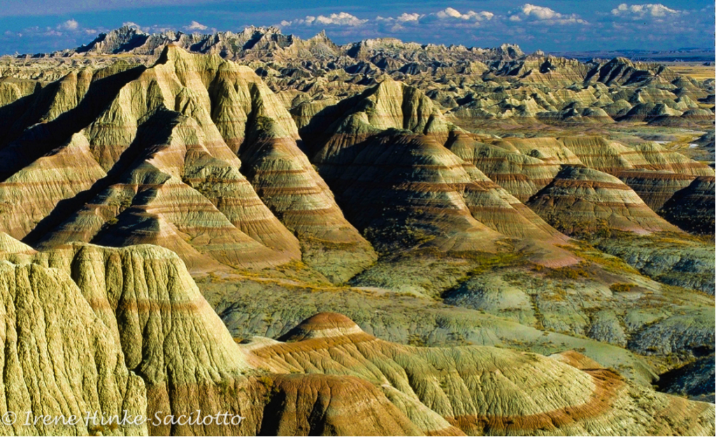 Badlands Formations with banded colors