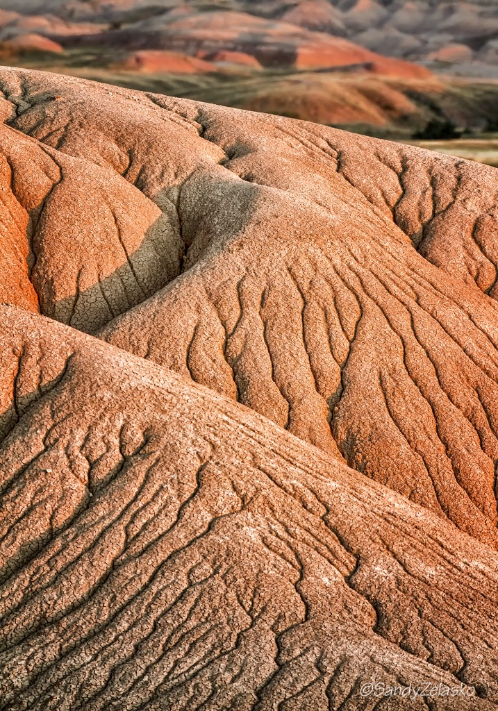 Sandstone patterns at end of day