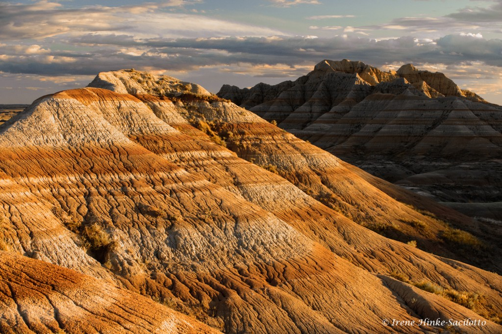 Badlands banded formations