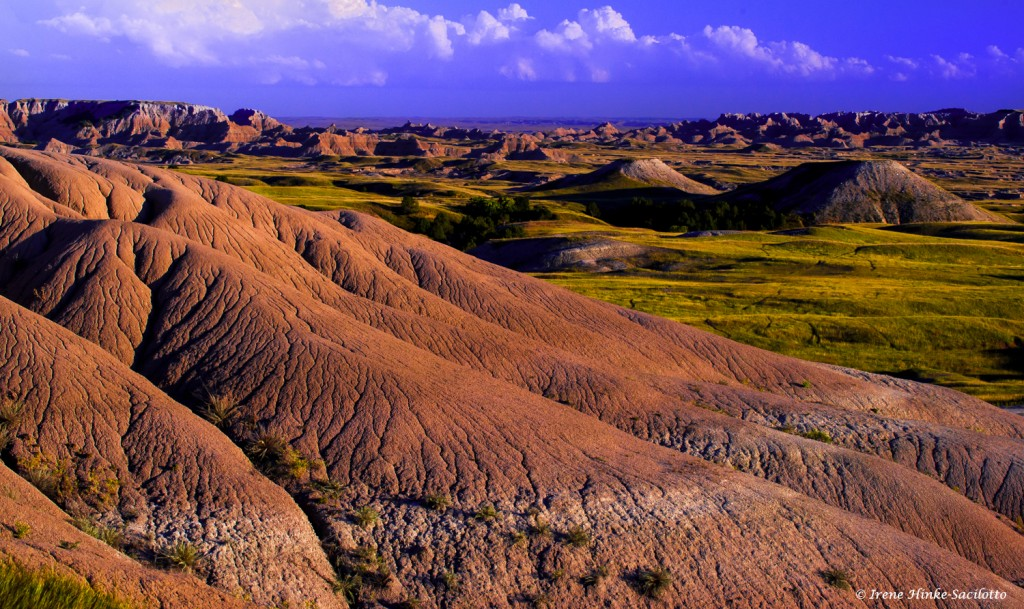 Eroded landscape in the South Dakota Badlands