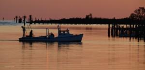 Work boat at dawn