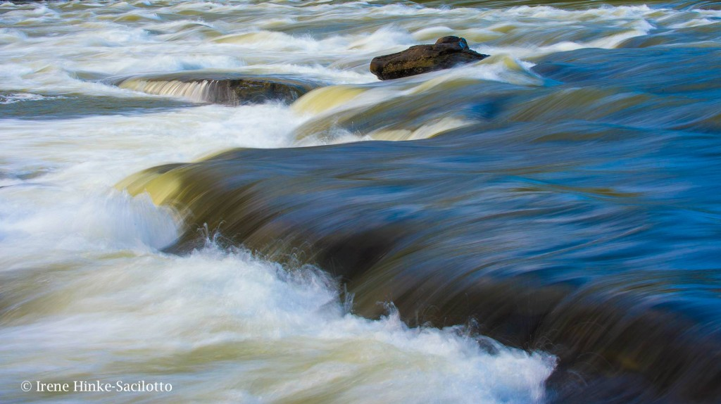Slow shutter speed used to create a sense of flow.